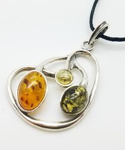 Baltic Amber Pendant Multi-color amber