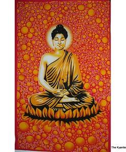 md tapestry orange buddah