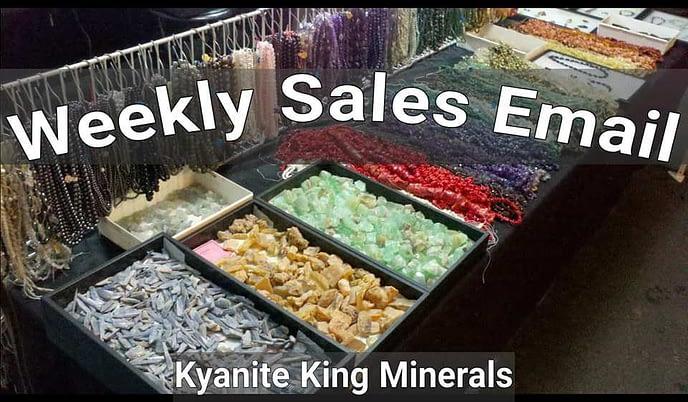 Kyanite King minerals weekly sale