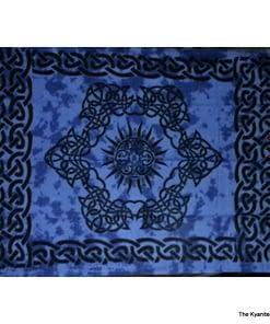 sm tapestry celtic sun design blue