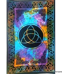 md tapestry celtic trinity knot tie dye