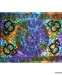 md tapestry om mantra tiedye