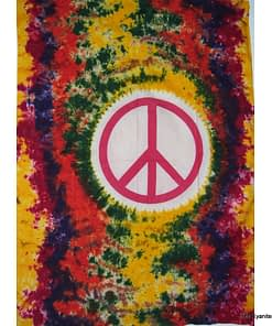 sm tapestry peace sign tiedye