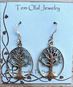 Tree Circle Earrings Tem Olal