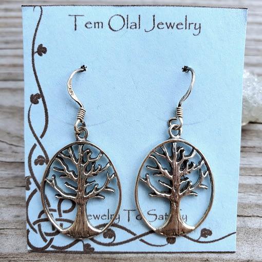 Tree Circle Earrings Tem Olal