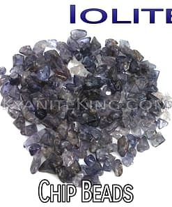 Iolite chip beads Kyanite King Beads