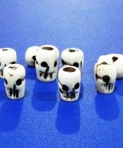 Skull Tube Beads Bone