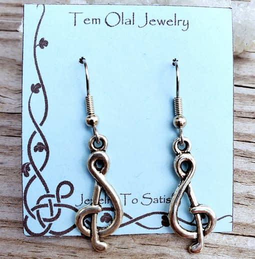 Musical Note Earrings Tem Olal