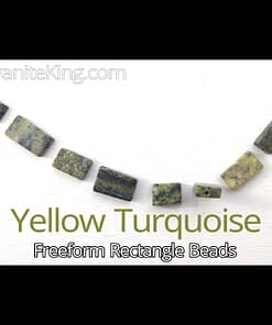 Yellow Turquoise Rectangle beads