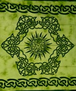 sm tapestry celtic sun design green