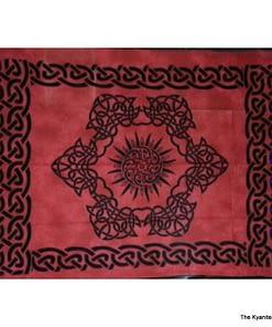 sm tapestry celtic sun design red
